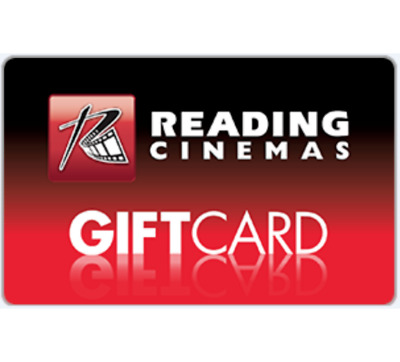 Reading Cinemas Gift Card $30 $50 or $100 - Fast Email Delivery