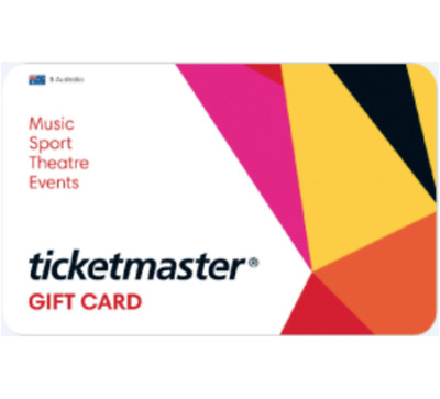 Ticketmaster Gift Card $50 or $100 - Email Delivery