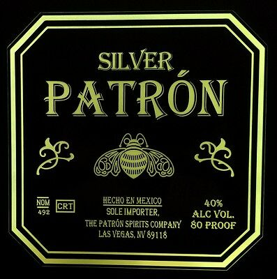 Patron Tequila 12 x 12 Man Cave Multi color LED Sign led box with remote