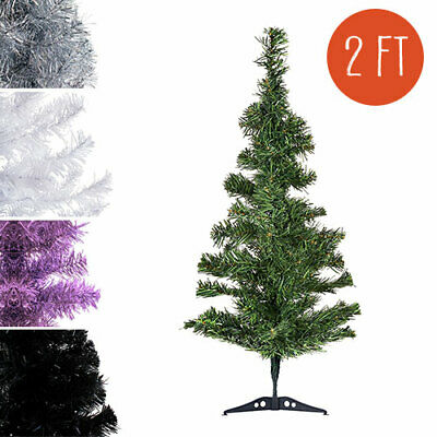 2ft small pvc artificial christmas tree unlit multiple colors size s us seller - Small Artificial Christmas Tree