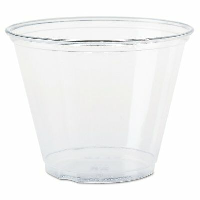 Solo Foodservice TP9R Cold Cup, 9 oz, Clear Squat Pack of 1000