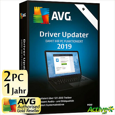 AVG Driver Updater 2019 2 PC 1 Jahr | VOLLVERSION / Upgrade | NEU UE DE-Lizenz