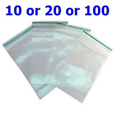 Small Clear Clear Bags Plastic Baggies Grip Self Seal Resealable Zip Lock UK B3