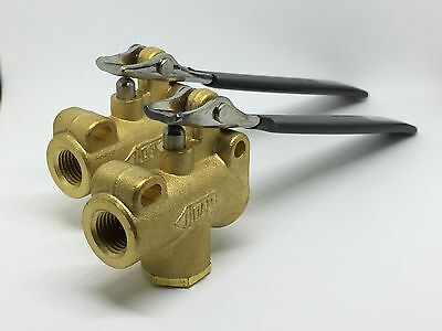 2 - Carpet Cleaning Angled 1200 PSI DAM Valve W/ Stainless Trigger