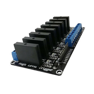 12V 8 Channel Solid State Relay SSR 240V 2A Module for Arduino Raspberry Pi