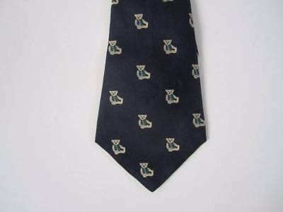 EUC Janie and Jack TAILORED LUXURY 0 6 12 24 M 2T 3T Silk Teddy Bear Tie