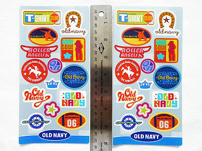 NEW LOT of 2 Sheets OLD NAVY Retro Style Collectible Stickers