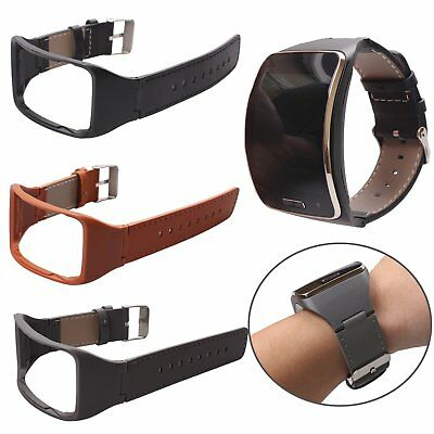 Genuine Leather Wristband Watch Strap Bracelet for Samsung Galaxy Gear S SM-R750