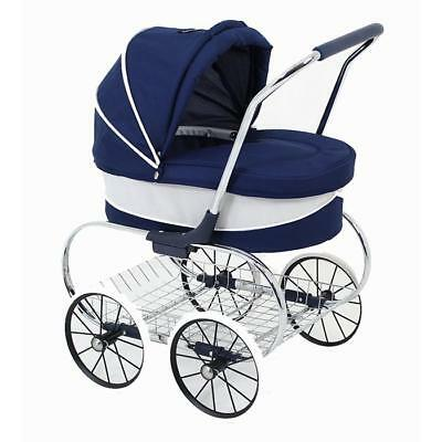 NEW Valco Baby Princess Doll Stroller - Navy