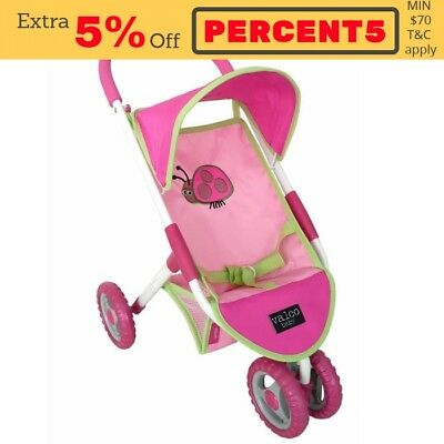 NEW Valco Baby Mini Lady Bug Doll Stroller