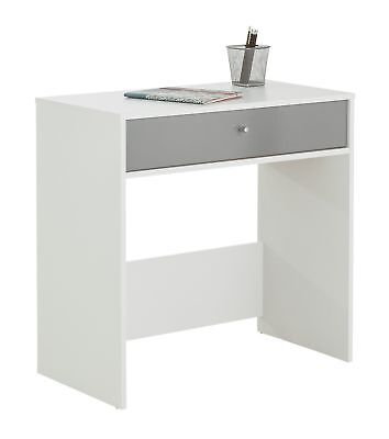 HOME Gloss Front Compact Laptop Desk - White