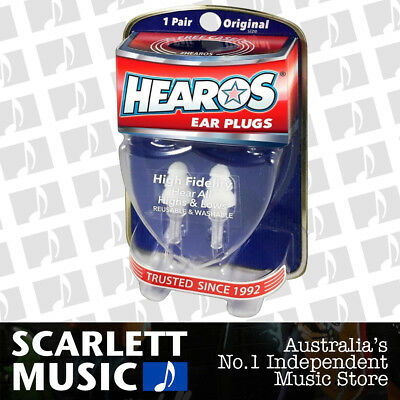 Hearos HS211 High Fidelity Reusable Washable Ear Plugs - w/ FREE Case.
