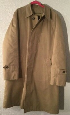 Mens 44L VTG EDDIE BAUER OVERCOAT w/ Goose Down Insul. Liner, Union Made In USA