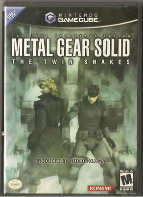 Metal Gear Solid: The Twin Snakes (Nintendo GameCube, 2004) (no manual)