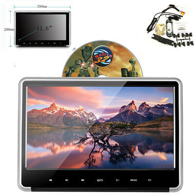 "11.6"" 1080P HD Car SUV Headrest Monitor Auto DVD Player w/HDMI/FM/IR/USB/SD/Game"
