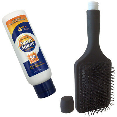 Hairbrush Flask and Sunscreen Flask Combo (free shipping)
