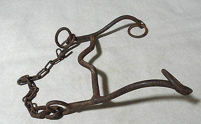 Antique Old Ottoman Hand Forged Wrought Iron Mouth Horse Bridle Harness