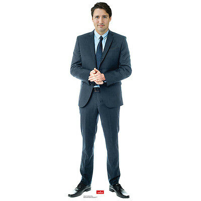 JUSTIN TRUDEAU Canadian Prime Minister PM CARDBOARD CUTOUT Standup Standee F/S