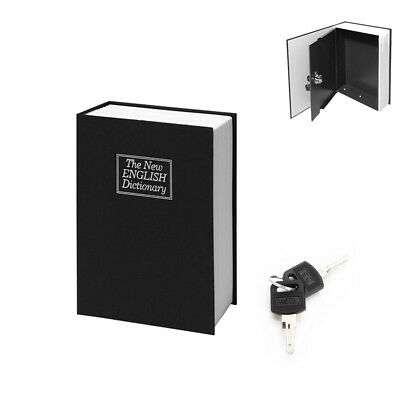 New Deluxe Dictionary Secret Book Hidden Safe Money Box Security Key Lock Black