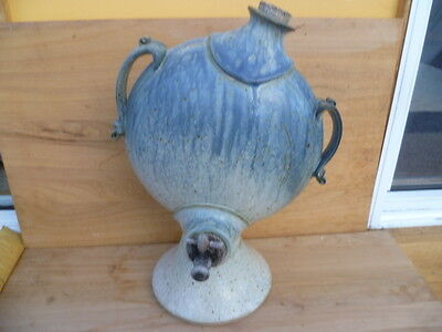Vintage Old Large Size Pottery Water Urn & Tap (A274)