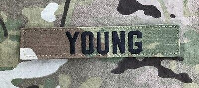 US ARMY Multicam OCP Scorpion Uniform Name Tape Klett patch camouflage YOUNG