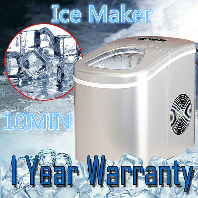 Portable Automatic Ice Cubes Maker Machine Compact Table Top Touch Control 2.2L