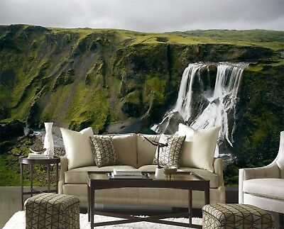 3D Cliffs Waterfall 78 Wall Paper Murals Wall Print Wall Wallpaper Mural AU Kyra