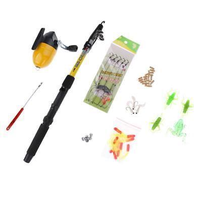 Telescopic Fishing Rod and Reel Combos Full Kit,Saltwater Freshwater Fishing