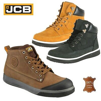 322521b09da MENS JCB LEATHER Lightweight Safety Work Boots Steel Toe Cap Shoes Trainers  Size