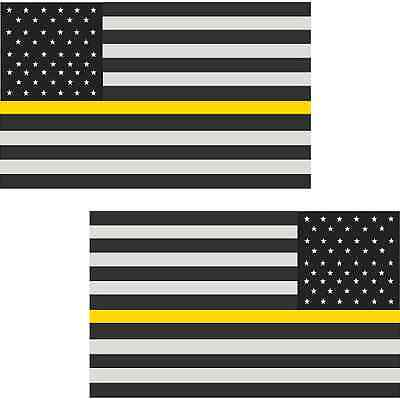 """2-8/"""" Thin Red Line American Subdued Flag Decal Firefighter Sticker RL"""