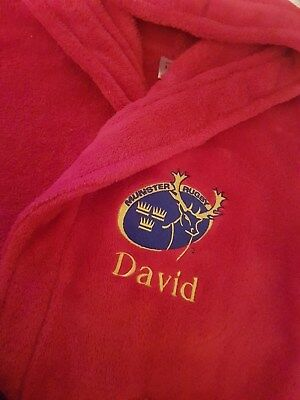 Munster Rugby Personalised Bathrobe - All Sizes available