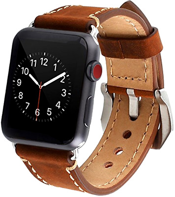 Apple Watch Band, 42mm iWatch Band Strap Premium Vintage Genuine Leather...