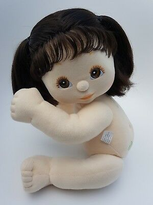 ♡ Mattel My Child ♡ US Girl Doll ♡ BRU Puppytails, Brown Eyes, Peach/Peach ♡ EC