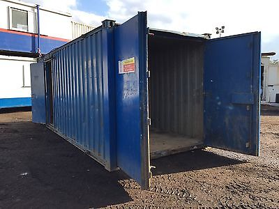 Site Office Storage Container Split 50/50 Anti Vandal Steel 21x8 More Available!