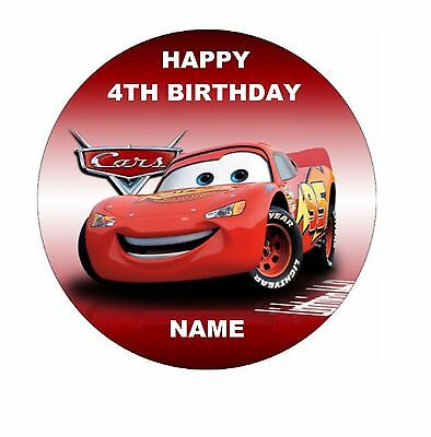 Lightning McQueen Edible Image Cake Topper Personalised