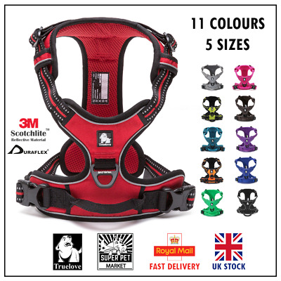 TrueLove No-Pull Strong Adjustable Dog Harness Reflective XS S M L XL 10 Colours