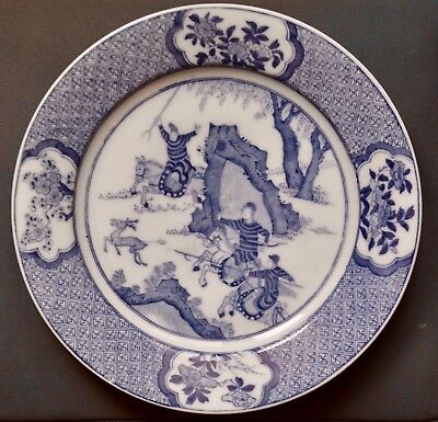 Kangxi style plate white and blue brand chenghua chinese porcelain