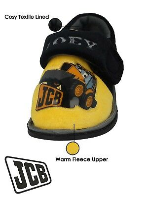 Boys Infant JCB Joey Digger Character Touch Close Slippers Size 5-10