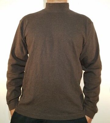LL Bean large mens long sleeve brown turtle neck shirt  sweater