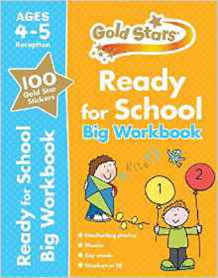 Gold Stars Ready for School Big Workbook Ages 4-5, New, Parragon Book