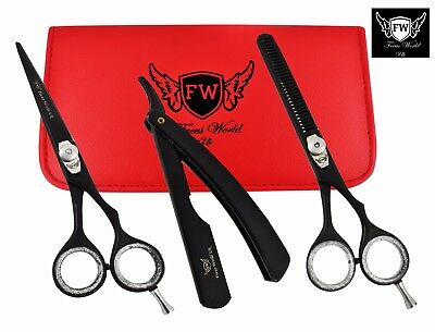 6'' Professional Hair Cutting Thinning Shears Barber Hairdressing Scissors Set