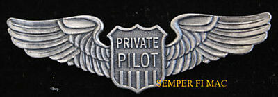 Private Pilot Wing Solo Airline Plane Pin Up Wings Airplane Faa Crew Gift Wow