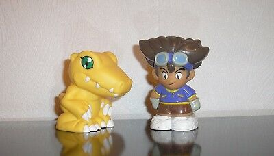 Digimon Figuren Tai und Agumon 8cm Staffel 1 Adventure Figur