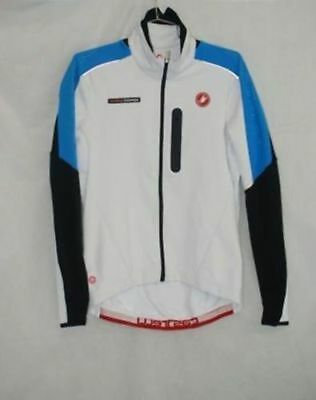 Castelli Mens Trasparente Due Long Sleeve White Cycling Wind Jersey Size L  New 577b0d5e3