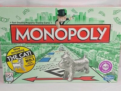 Monopoly Game With The New Cat Token Hasbro Gaming Sealed