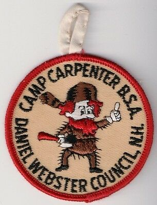 BSA Patch, Camp Carpenter, Daniel Webster Council New Hampshire, old RED Border