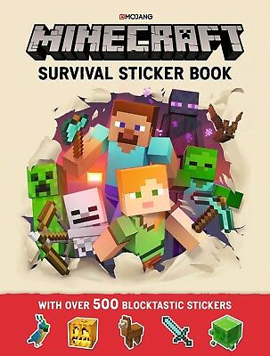 Minecraft Survival Sticker Book: An Official Book From Mojang New Paperback Book