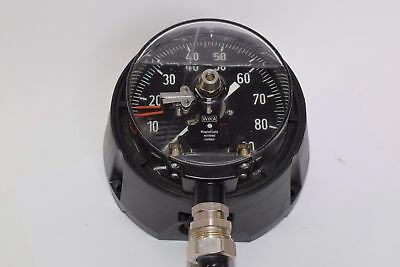 Wika Process Pressure Gauge Alarm Contact, 0-90 PSI 4-1/2''
