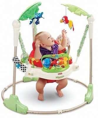 Baby Rainforest Jumperoo Easy to Use Move & Store Interactive Play Fisher-Price