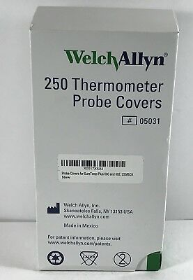 Welch Allyn SureTemp Thermometer Probe Covers Box of 250 REF:05031